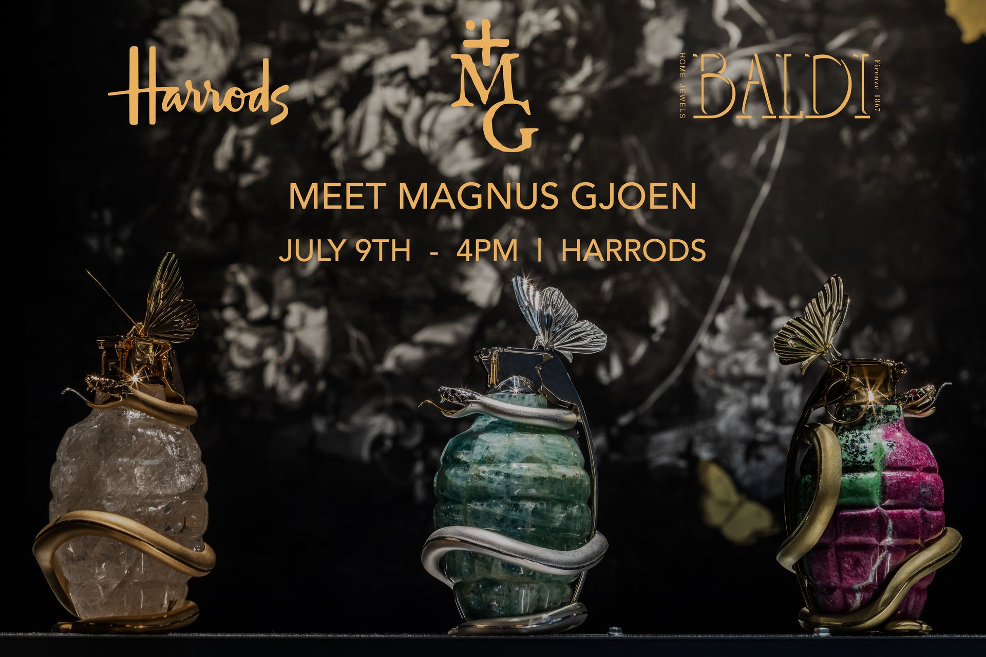 Magnus Gjoen x Baldi Home Jewels Presentation at Harrods